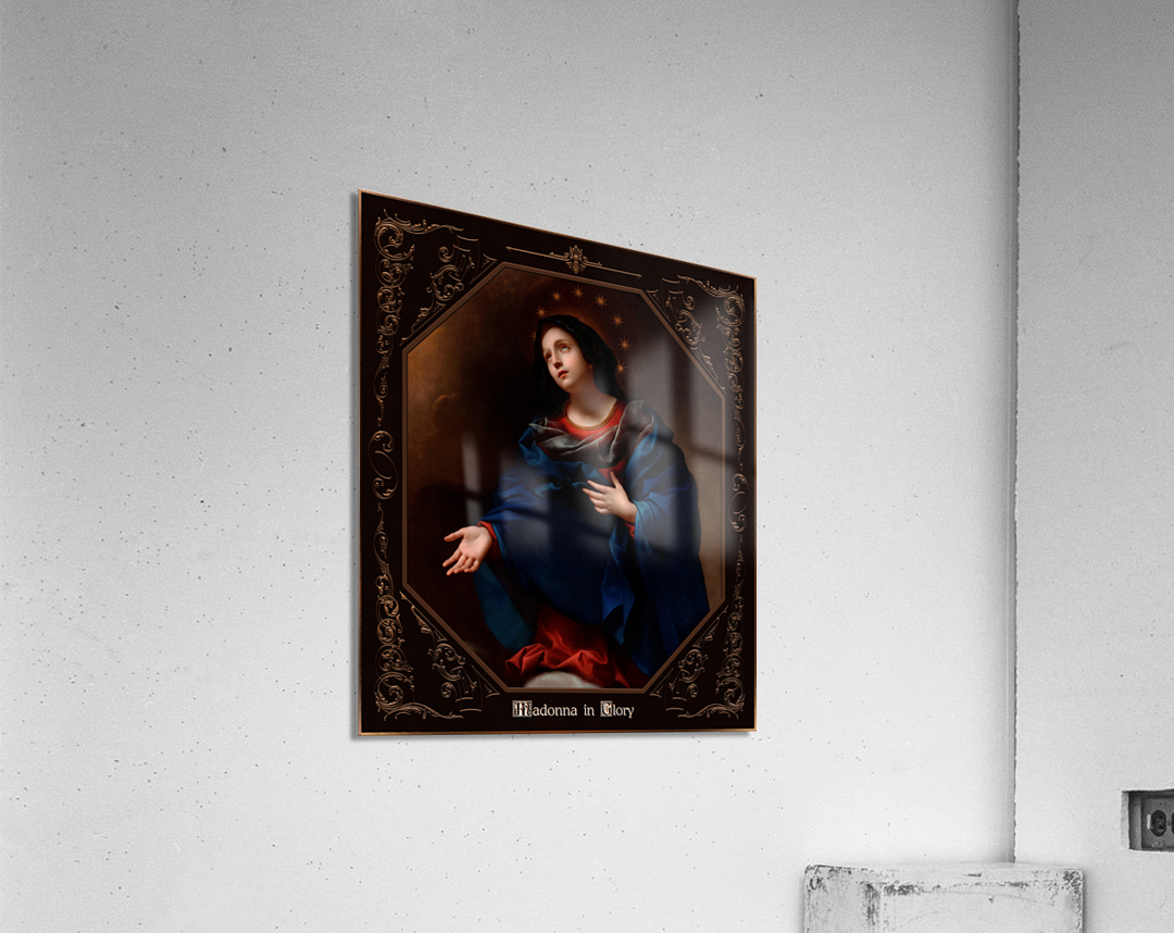 Madonna in Glory by Carlo Dolci Classical Art Xzendor7 Old Masters Reproductions  Acrylic Print