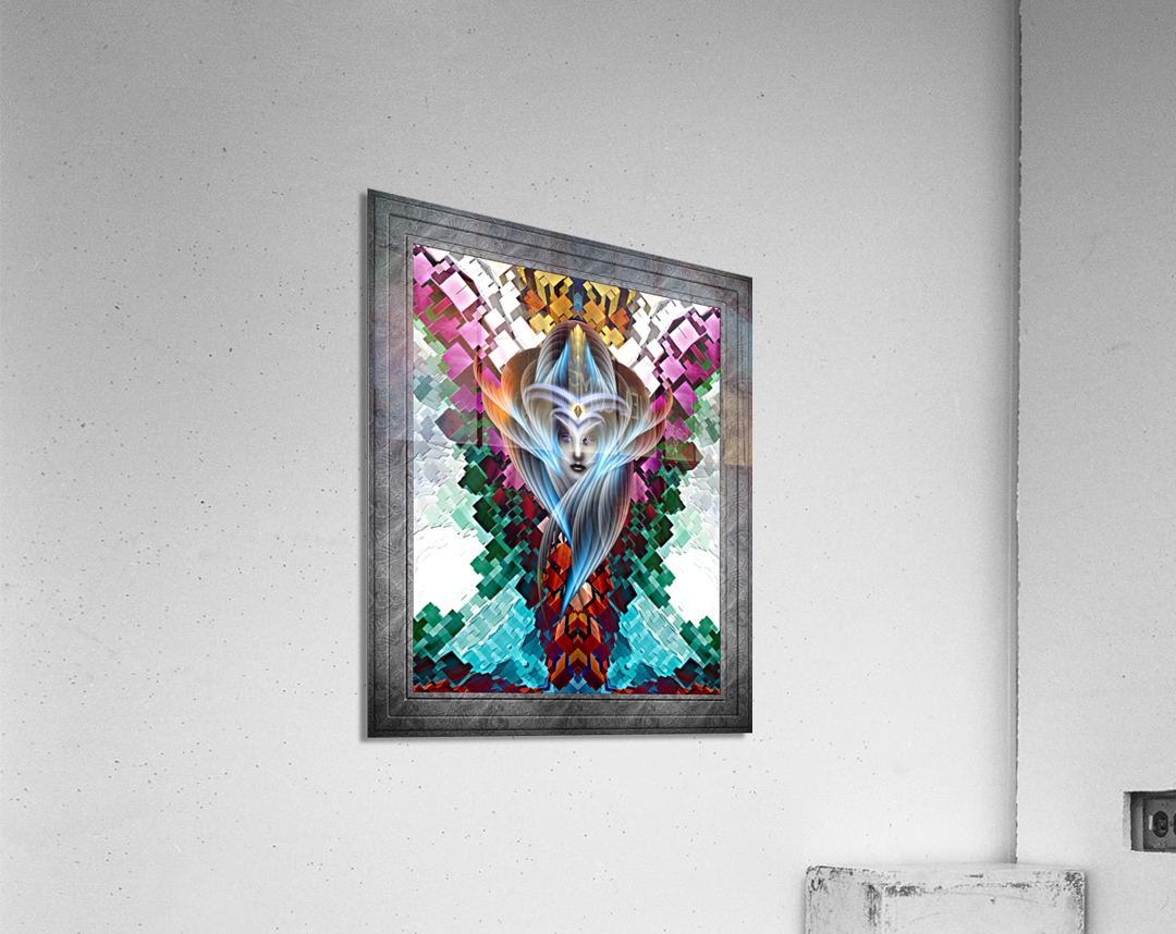 What Dreams Are Made Of GeomatCLR WQ FRAME Fractal Art Cuboid Portrait  Acrylic Print