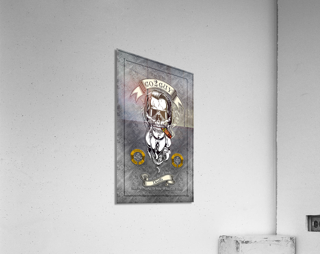 CO2 Guy Certified Real Global Climate Menace  Acrylic Print