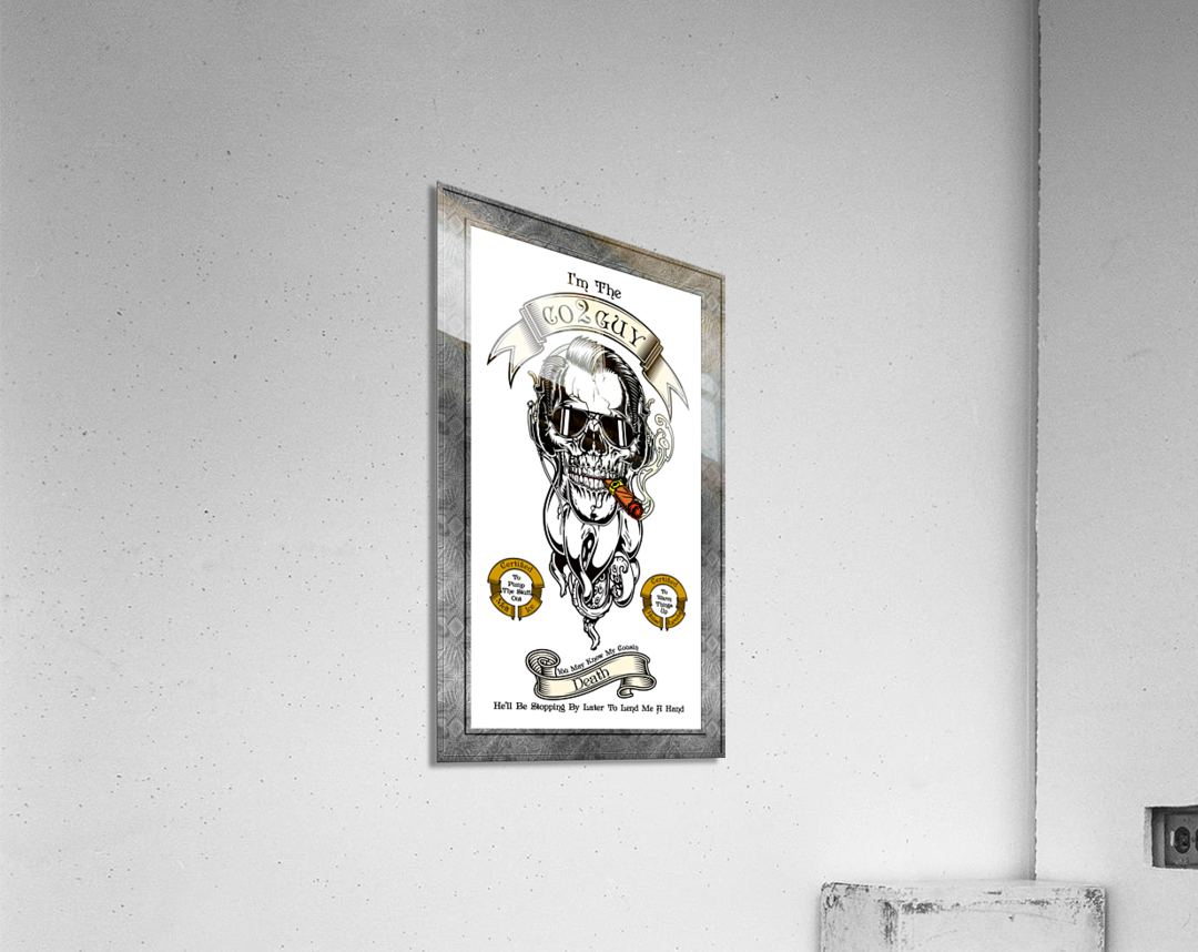 CO2 Guy Certified Real Global Climate Menace WHT  Acrylic Print