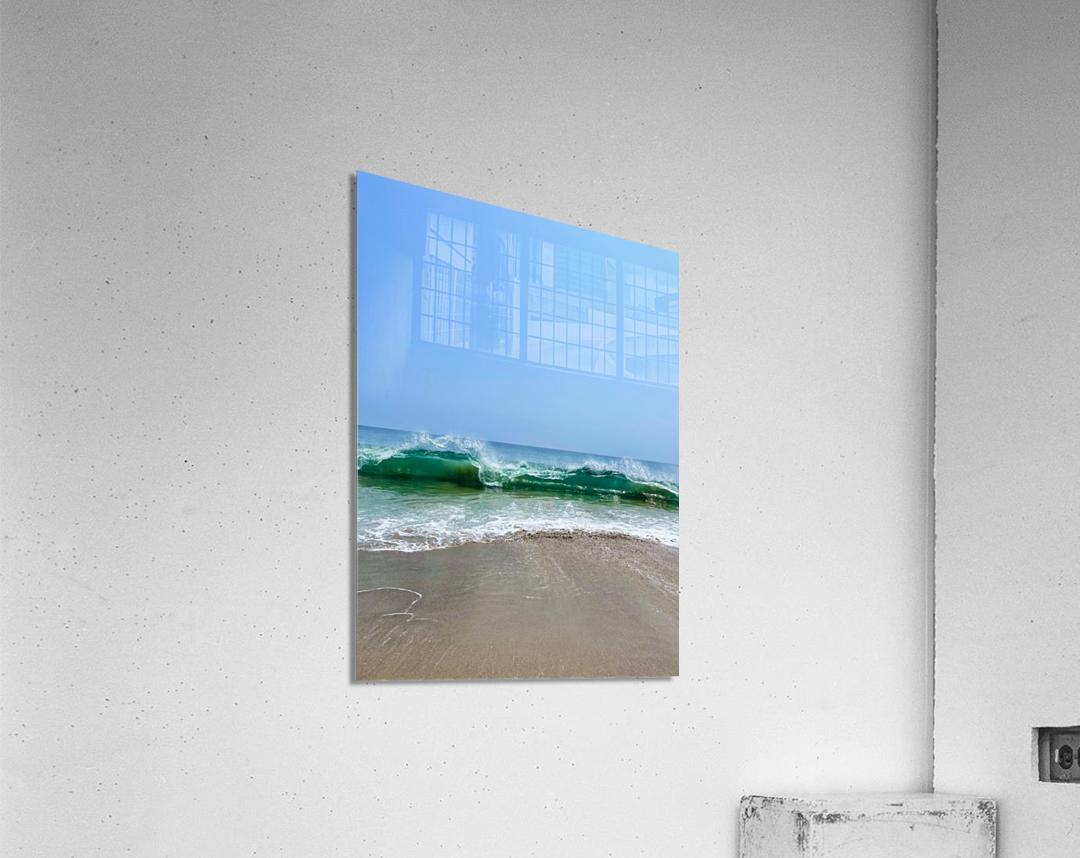 Crashing Waves - Malibu CA  Acrylic Print