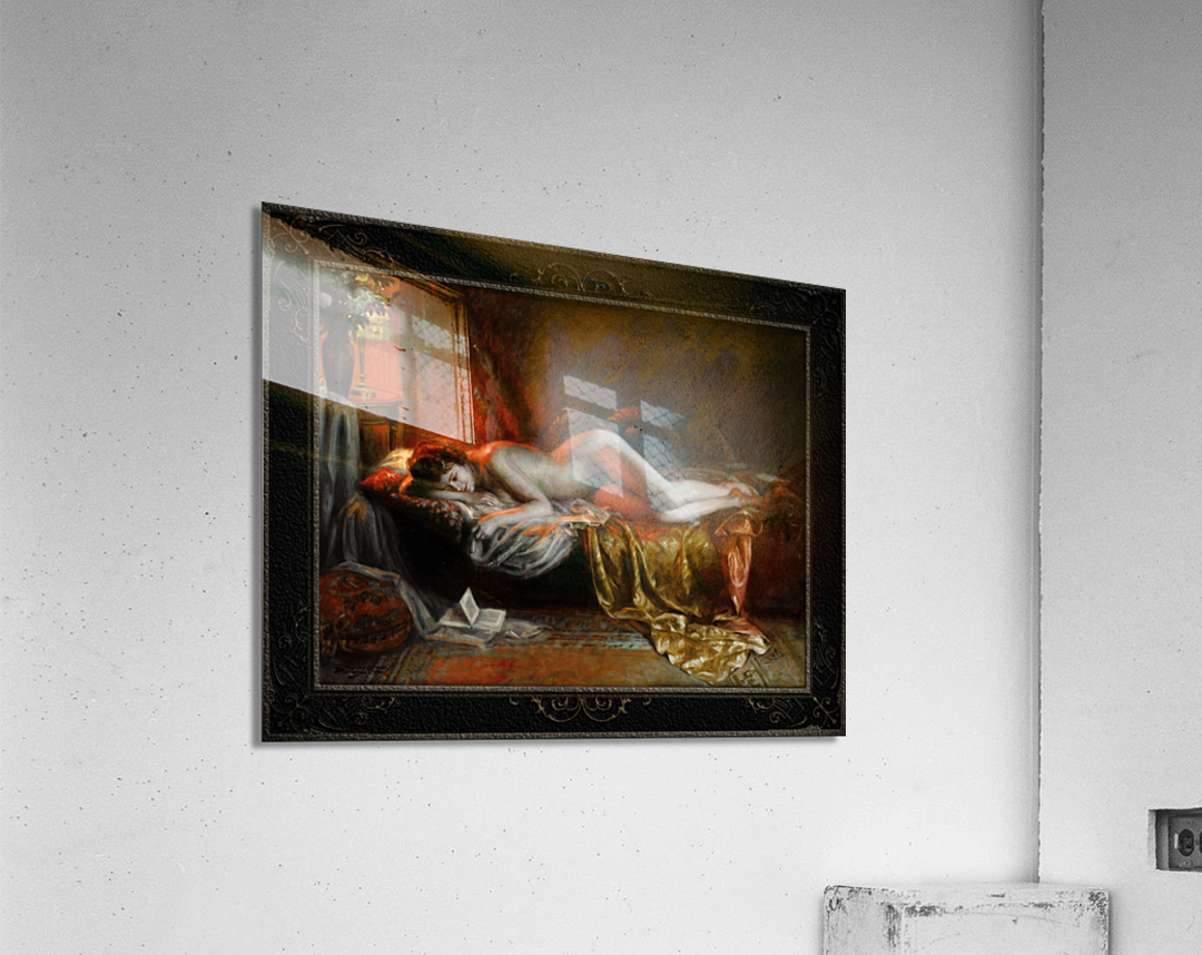 Just Finishing Reading A Novel by Delphin Enjolras Classical Art Xzendor7 Old Masters Reproductions  Acrylic Print