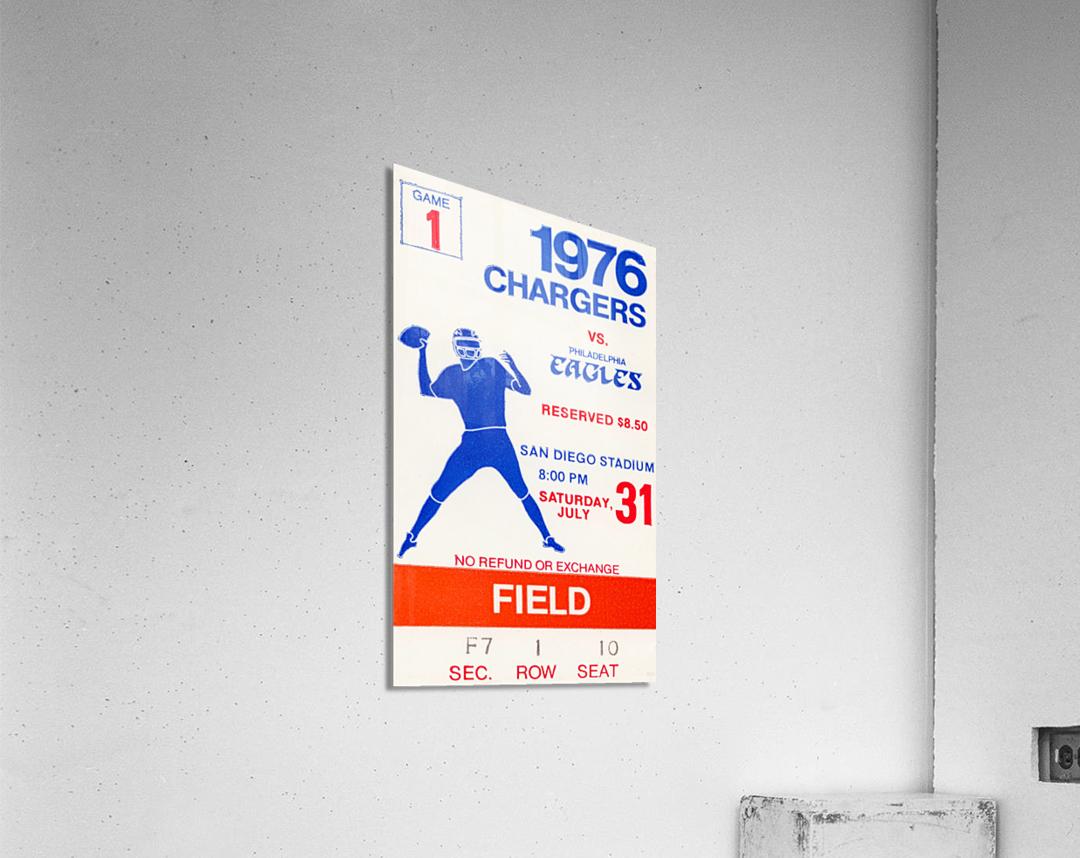 1976 San Diego Chargers vs. Philadelphia Eagles  Acrylic Print