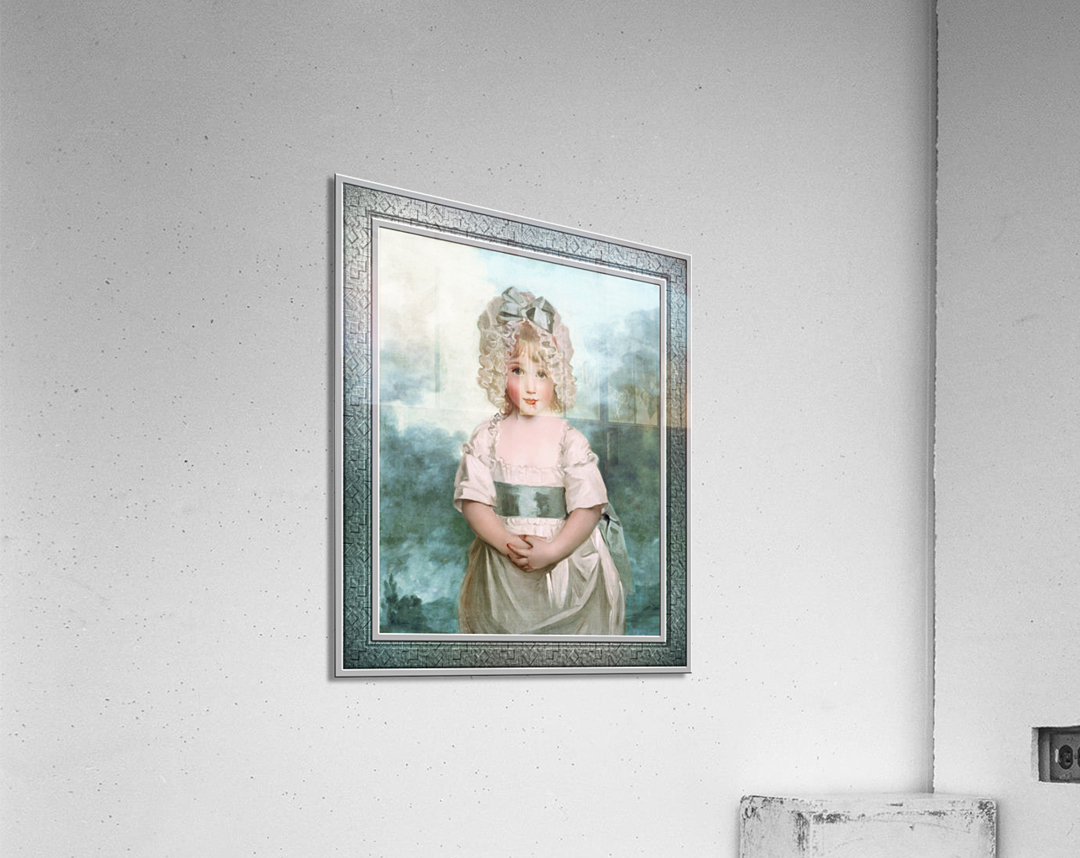 Miss Charlotte Papendick as a Child by John Hoppner Classical Art Xzendor7 Old Masters Reproductions  Acrylic Print