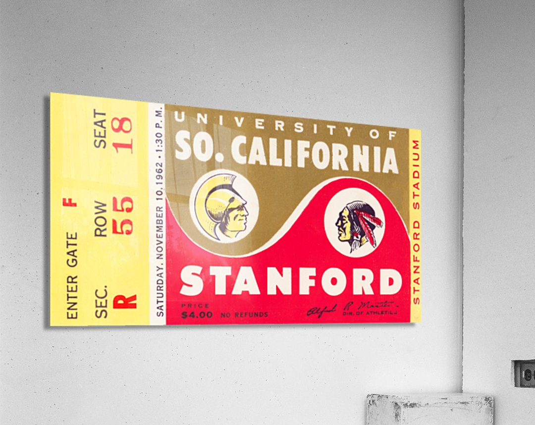 1962 Stanford Indians vs. USC Trojans  Acrylic Print