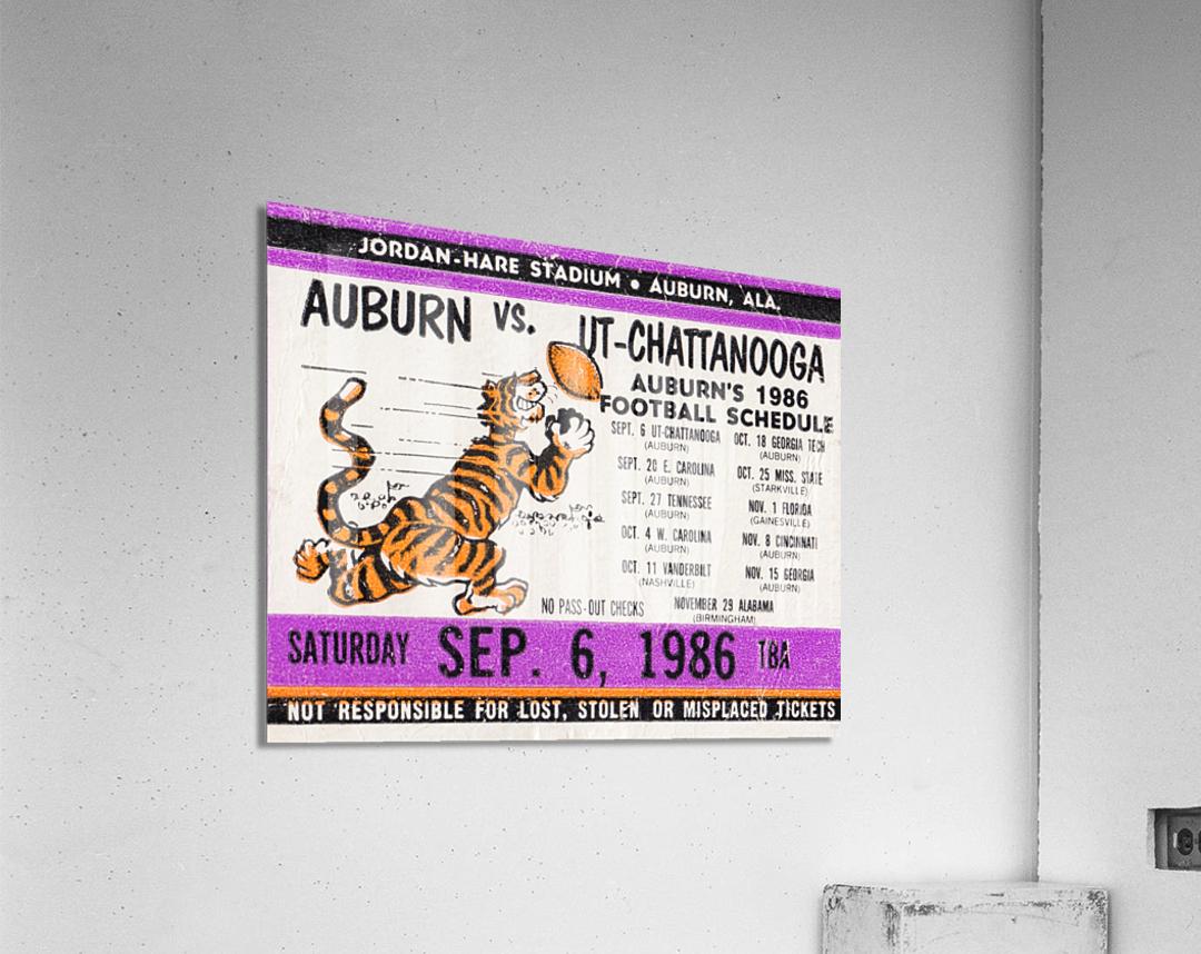 1986 Auburn Tigers vs. Chattanooga Mocs   Acrylic Print