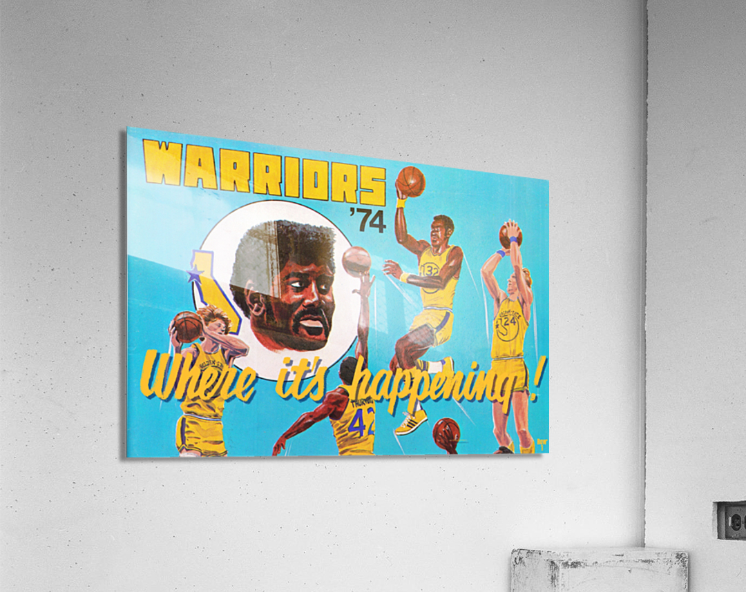 1974 Golden State Warriors Retro Remix Art  Acrylic Print