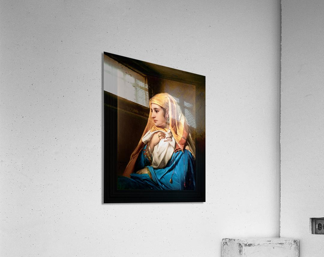 Contemplation by Belgian Painter Jean-Francois Portaels Classical Fine Art Xzendor7 Old Masters Reproductions  Acrylic Print