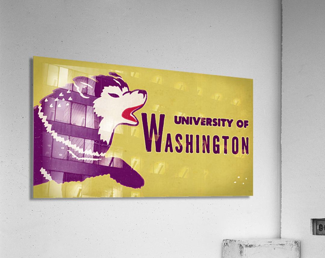 1950 Washington Husky Ticket Remix Art  Acrylic Print