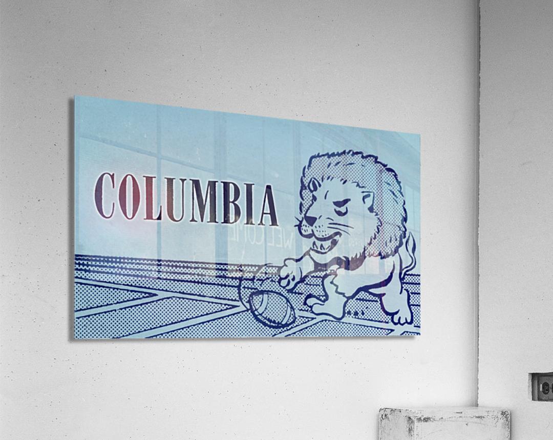 1961 Columbia Lions Football Ticket Stub Remix Art  Acrylic Print