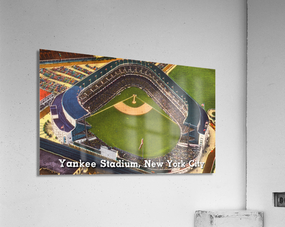 Vintage Yankee Stadium Postcard Art  Acrylic Print