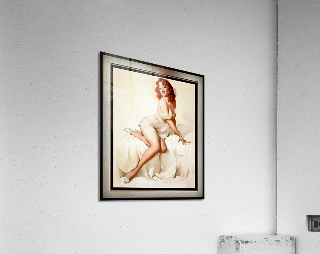 Bedside Manner by Gil Elvgren Vintage Illustrations Xzendor7 Old Masters Reproductions  Acrylic Print
