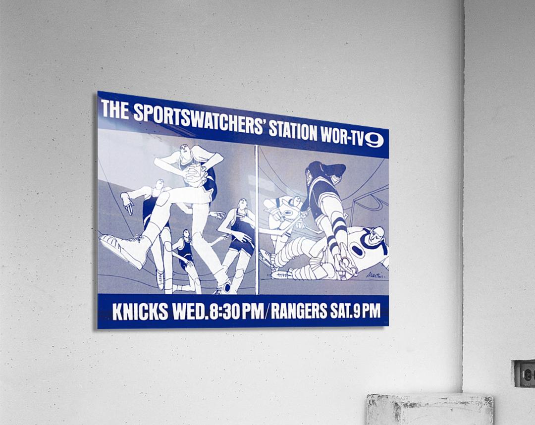 1967 New York Knicks and Rangers WOR TV9 Ad  Acrylic Print