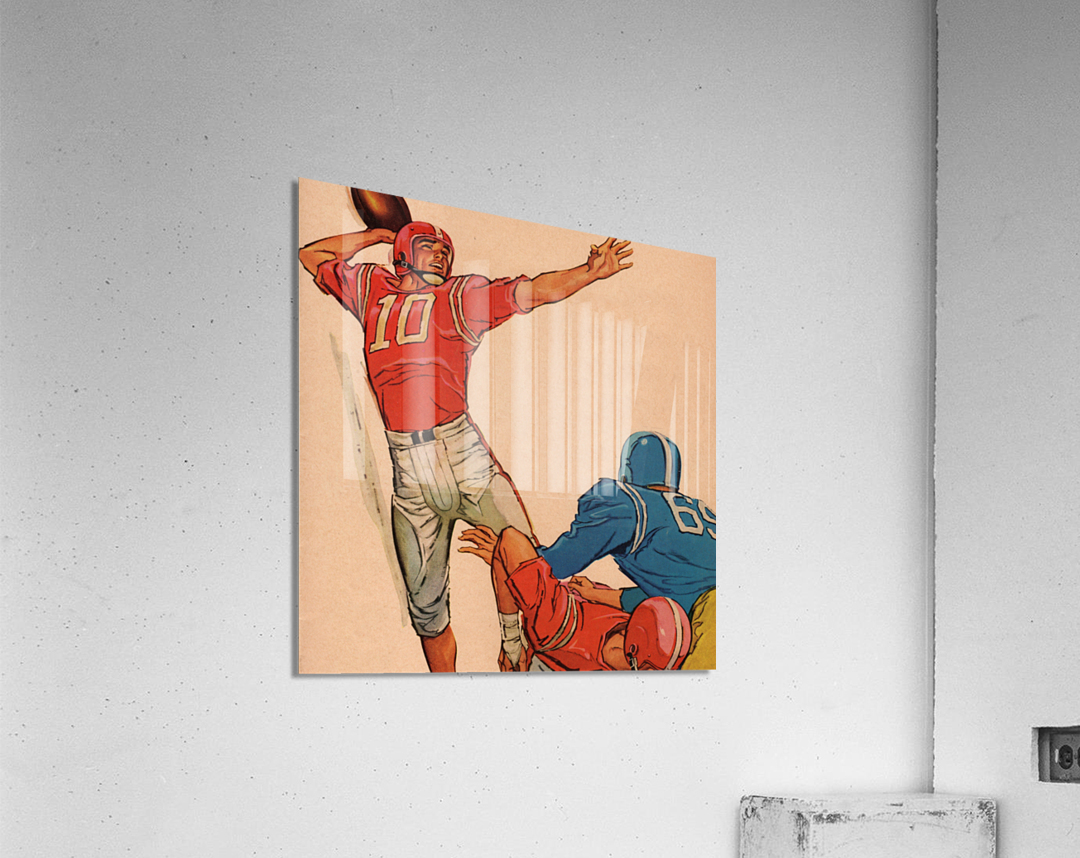 1959 Vintage Football Quarterback Art  Acrylic Print