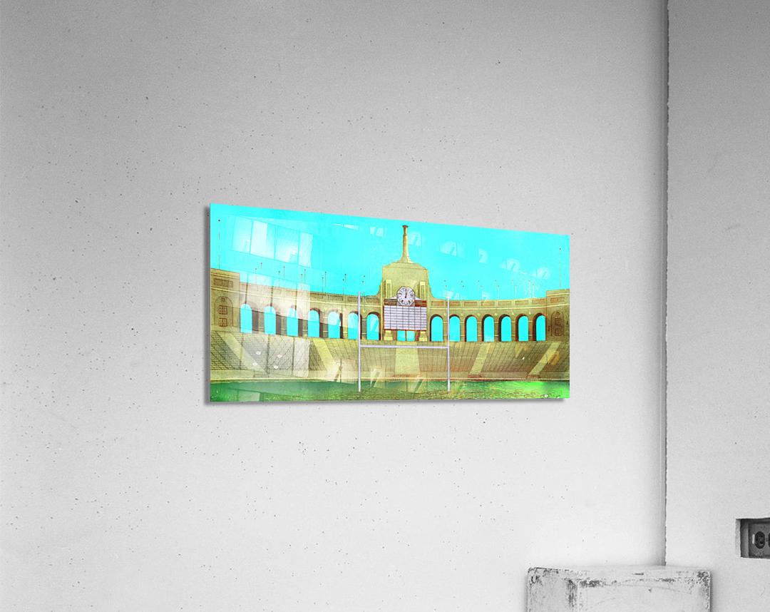 Vintage LA Coliseum Art   Acrylic Print