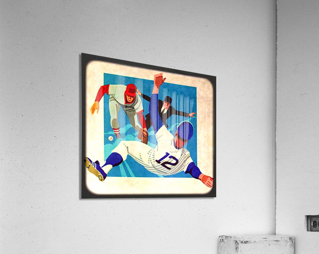 1981 Retro Viewfinder Slide Baseball Art  Acrylic Print
