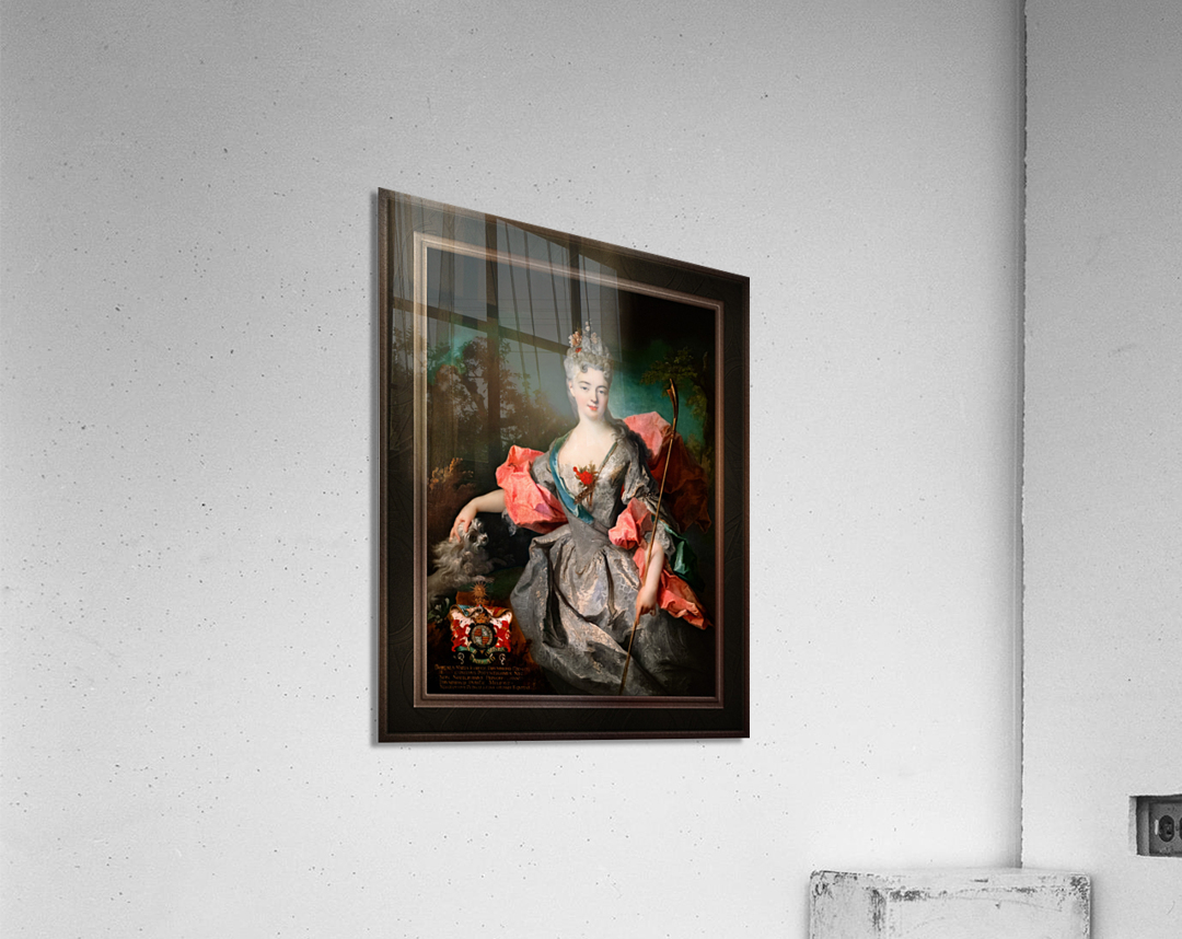 Lady Maria Josefa Drummond by Jean-Baptiste Oudry Classical Fine Art Xzendor7 Old Masters Reproductions  Acrylic Print