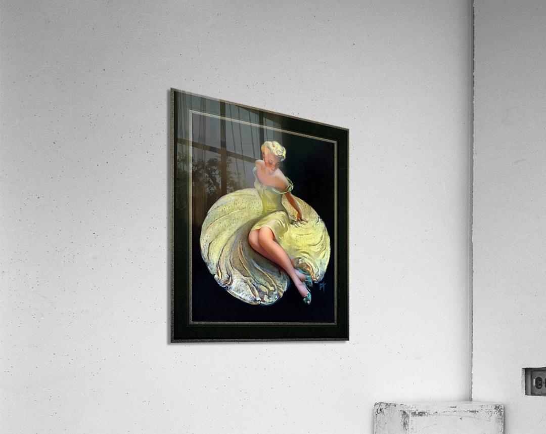 Golden Girl by Roy Best Vintage Illustration Xzendor7 Art Reproductions  Acrylic Print