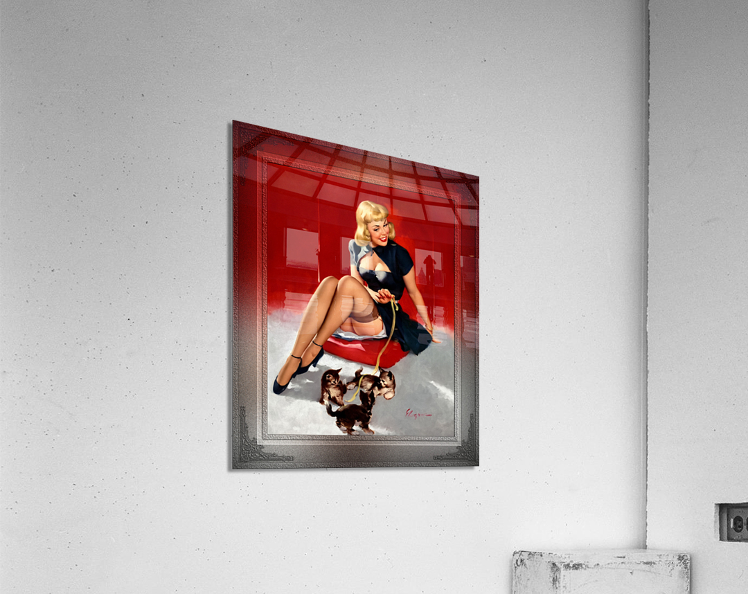 Some Cute Tricks by Gil Elvgren Vintage Xzendor7 Old Masters Reproductions  Acrylic Print