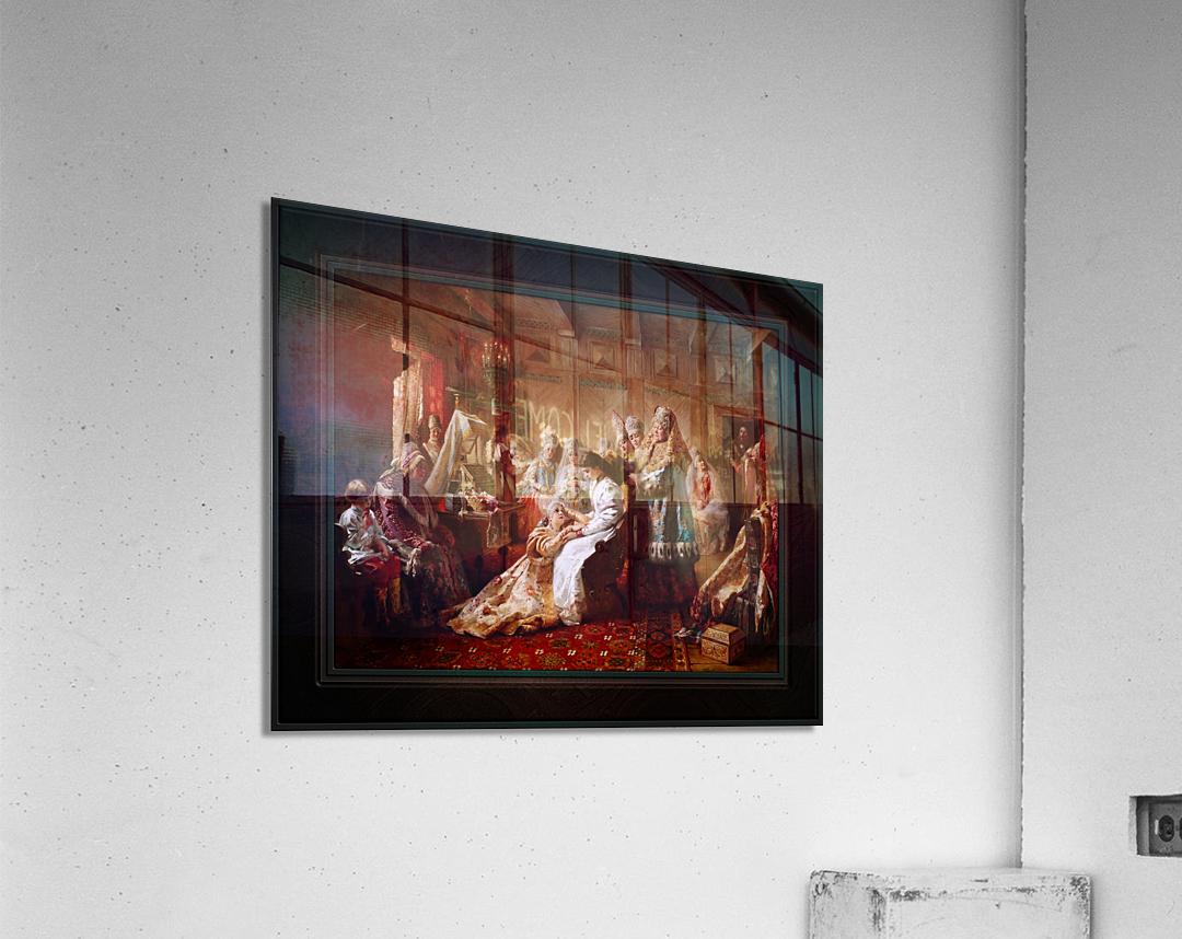 The Russian Brides Attire by Konstantin Makovsky Classical Fine Art Xzendor7 Old Masters Reproductions  Acrylic Print
