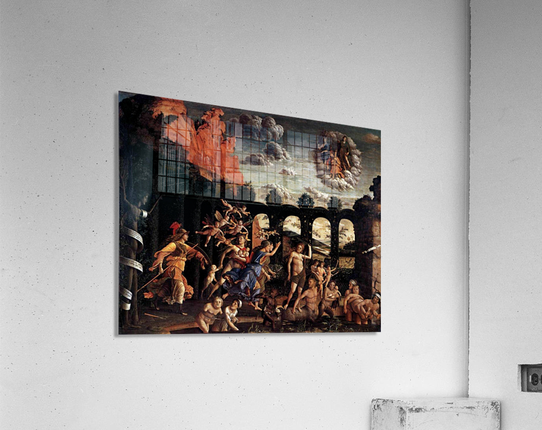 Pallas Expelling the Vices from the Garden of Virtue  Acrylic Print