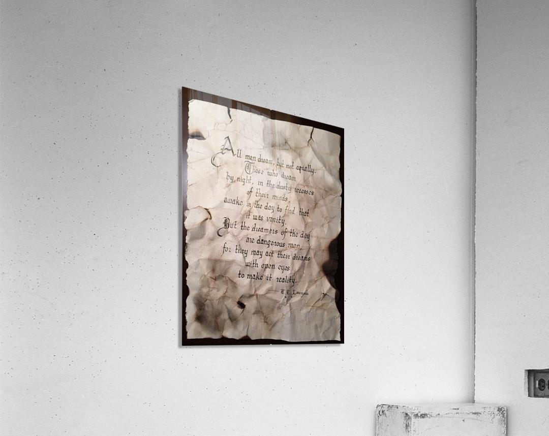 T.E.Lawrence  Acrylic Print