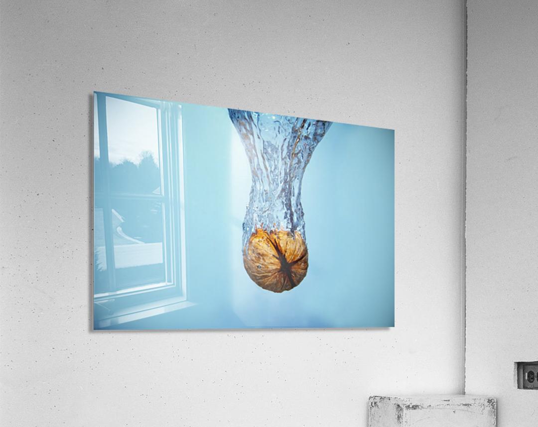 Amazing Walnut water splash  Acrylic Print