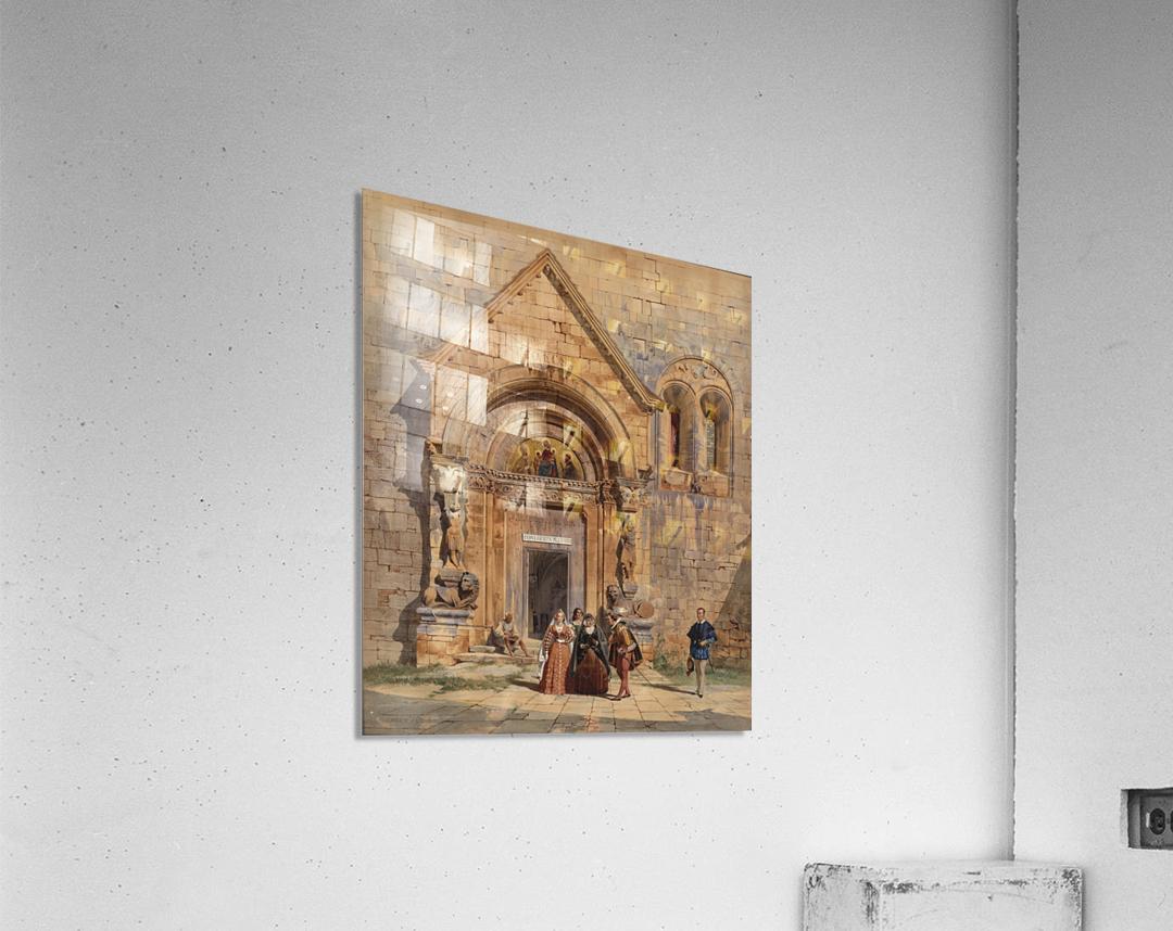Kirchenportal und Personengruppe 1842  Acrylic Print