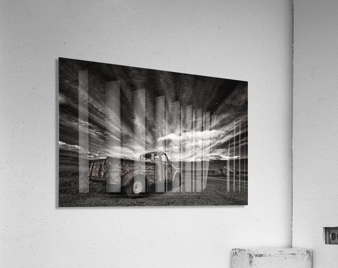 Old Truck (mono)  Impression acrylique