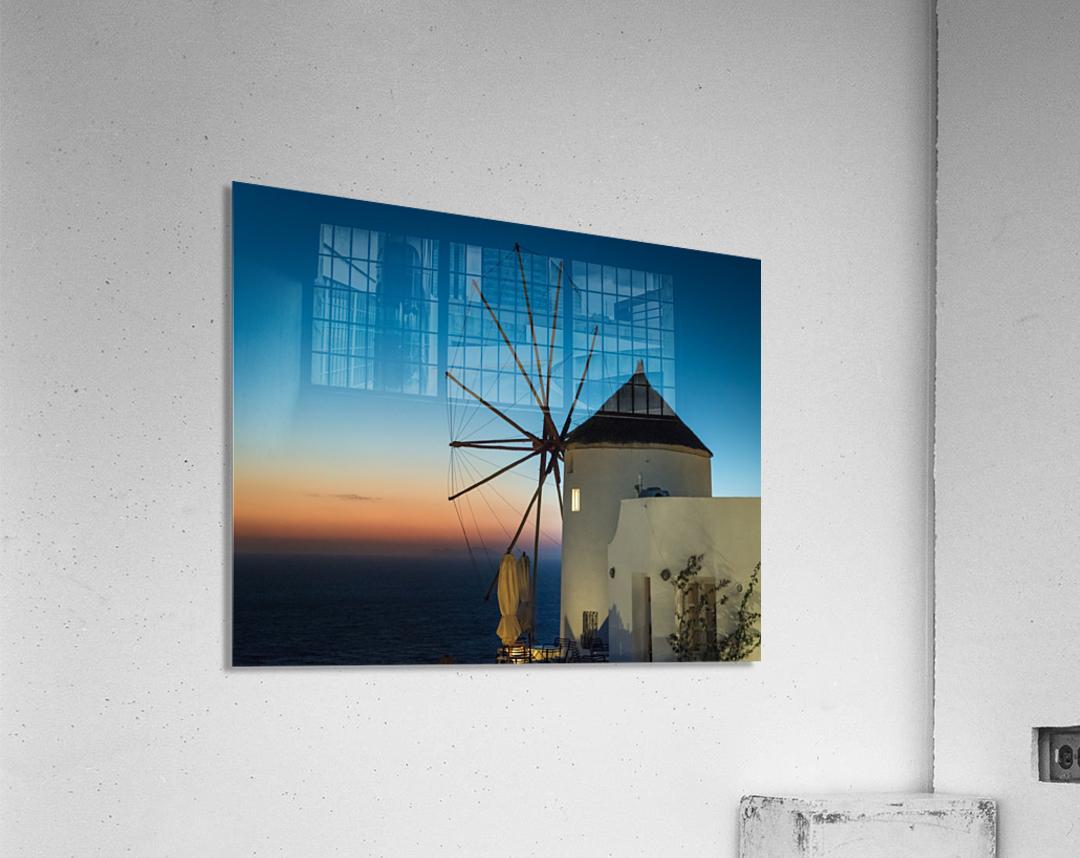 Mills Oia Night  Acrylic Print