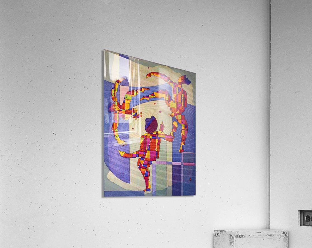 Juggling balls foot  Acrylic Print