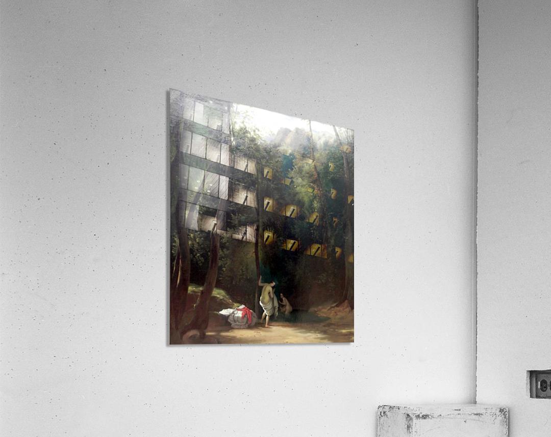 Badende Madchen im Park von Terni  Impression acrylique