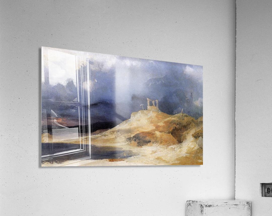 Galgenberg bei Gewitterstimmung  Impression acrylique