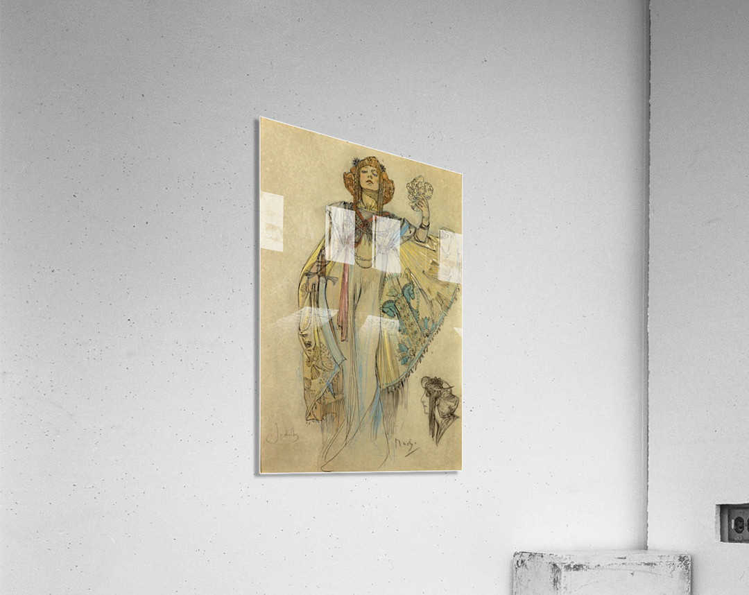 Woman in blue dress  Acrylic Print