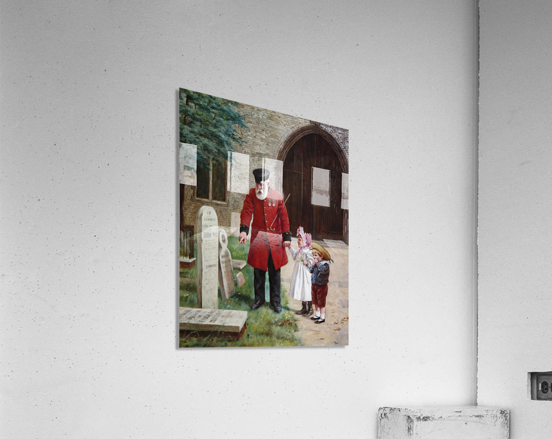 A walk with Grandpa  Impression acrylique