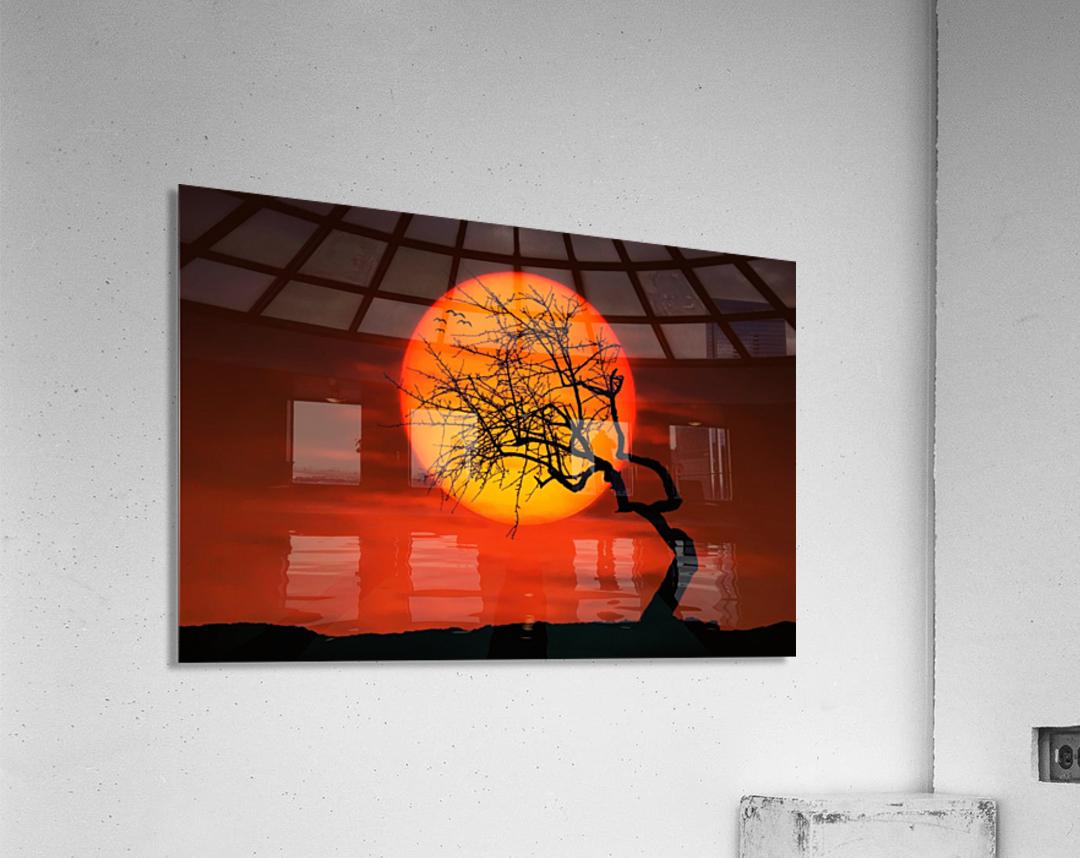 Bird on Sun  Acrylic Print