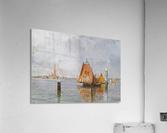 Fishing boats in Venetian lagoon  Acrylic Print