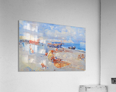 Beach of Mergellina  Impression acrylique