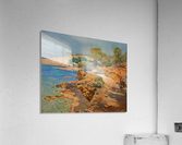 Landscape along the Italian coast  Impression acrylique