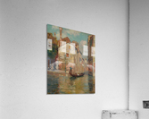 Gondola traveling along a canal in Venice  Impression acrylique