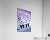 Mountain Climbers Byron Glacier Southcentral Ak Spring  Acrylic Print