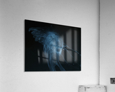 Glowing blue jellyfish in the dark water  Acrylic Print