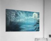 moon aura  Impression acrylique