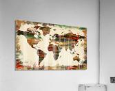 World Map Decorative Painting  Acrylic Print