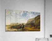 Rivierlandschap met ruiters  Acrylic Print