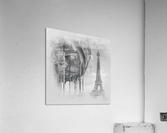 Typical Paris   monochrome watercolor  Acrylic Print