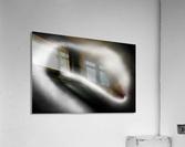 Female nude silver oil close-up 3  Acrylic Print
