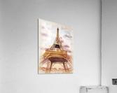 Vintage Paris Eiffel Tower Watercolor Painting  Acrylic Print