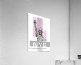 Poster Art NYC Statue of Liberty | light pink  Acrylic Print