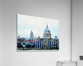 Millennium Bridge to St Pauls Cathedral London  Acrylic Print